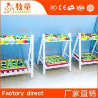 供应幼儿园室内实木展架定制 幼儿园室内装修设计