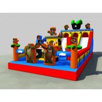 秋天适合经营充气蹦床吗 充气大型城堡滑梯用的材料 游戏玩具充气气模蹦床