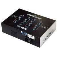 西普莱A-223 20口USB3.0集线器高速批量刷机执法记录仪采集充电