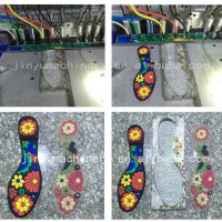 东莞PVC鞋底流水线PVC拖鞋12色滴塑机鞋面流水线厂家直销