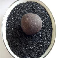 河北灵寿盛运专业生产黑色石英砂透水砖面层用黑色石英砂