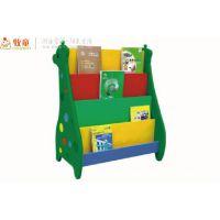 供应定做幼儿园塑料书架 广州牧童生产厂家 质量保证 性价比高
