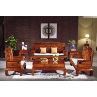 新款红木家具中式沙发客厅金玉如意沙发6件套款式图片