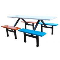 广州西餐厅桌椅简约现代企业员工饭堂餐桌椅组合定制