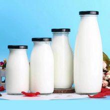 供应玻璃牛奶瓶500毫升高白料玻璃鲜奶瓶