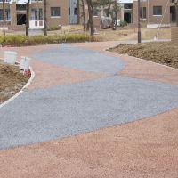 品石3cm露骨料透水混凝土地坪系统描述