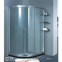 淋浴房厂家直销扇型铝型材蒙砂加副窗淋浴房R062