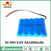 旭日电源电池厂家 镍氢充电电池 五号 6.0V Ni-MH AA1000mAH 毫安