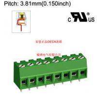 MB332-381全新原装台湾DECA进联间距3.81绿色端子
