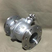 气动不锈钢法兰球阀 Q641F双作用三联件二通式球阀