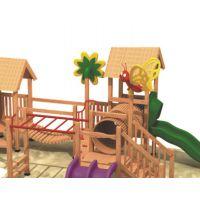 厂家直销木质组合滑梯儿童滑梯 木质拓展设备 可定做不种造型 场地游艺设备