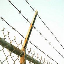 刺绳施工 刺绳护栏图片 镀锌刺线