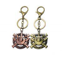 动漫周边钥匙扣 海贼王船头标志挂饰 礼品店工艺品 两色可选
