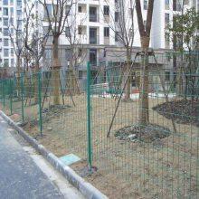 厂家直销双边丝护栏网 绿色浸塑铁丝网 小区、园林隔离防护