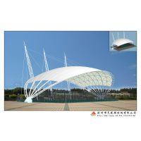 张拉膜结构生产厂家 张拉膜价格 膜结构遮阳蓬停车棚挡雨棚