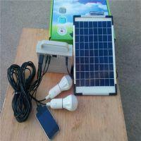 小型便携式家用太阳能发电照明系统,野营灯,夜市灯,户内户外照明灯 太阳能家庭照明工具包