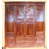 国标红木卧室家具刺猬紫檀四门衣柜价格