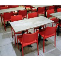 中卫市食堂桌椅,简约现代快餐店甜品店桌椅批发