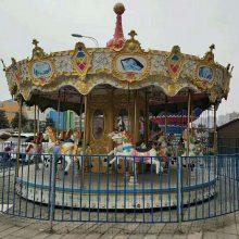 易拆卸旋转木马游乐设备 广场可移动儿童转马玩具 赶集庙会专用