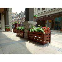 道路木制花箱 室外景观花箱