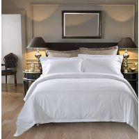 酒店布草60支1cm贡缎全棉缎条四件套 宾馆床上用品 南通叠石桥画雨家纺
