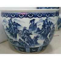 养鱼陶瓷鱼缸批发价格大口径陶瓷鱼缸加工定做陶瓷水缸大缸生产