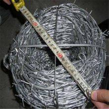 镀锌刺绳 毛铁刺规格 防爬铁线