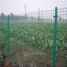 马路围栏围墙网 农业园桃型柱护栏网 铁丝防护网厂家