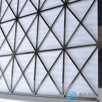 批发不锈钢屏风供应商 酒店不锈钢装饰材料丨镜面黑钛屏风批发价