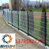 护栏网安装 桃型柱 现货三角折弯护栏网 小区绿化园林防护网