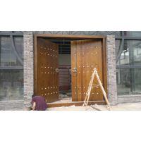 实木大板门 整套门含框 采用俄罗斯樟子松木材 可定做