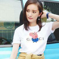 纯棉女装T恤批发时尚小猪佩奇女装印花T恤批发韩版女装T恤批发