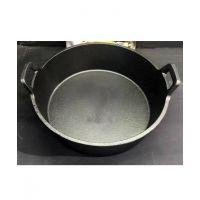 铸铁平底汤锅鸳鸯锅子母锅一体成型绝铸铁锅电磁炉燃气通用锅不串汤
