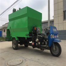 适合过道窄小的牛场撒料车 节能省电的投料车 新疆牛场投料车