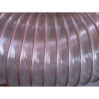 厂家直销耐高温塑料钢丝管透明塑料软管内夹钢丝软管,PU防静电吸尘管