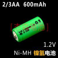 厂家直销高品质Ni-MH 2/3AA600mAh 1.2V镍氢电池