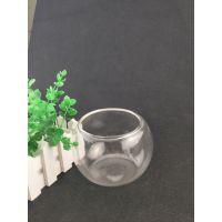 厂家直销人工吹制高硼硅透明玻璃鱼缸罩