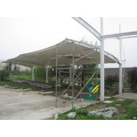 膜结构车棚材质特点-膜结构车棚安装落水管-膜结构车棚优势