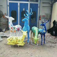 玻璃钢动物鹿造型雕塑 地产园林景观装饰摆件 广州景观雕塑厂家优惠供应