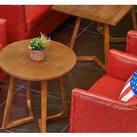 倍斯特定制简约现代实木餐桌创意休闲西餐蛋糕洽谈桌