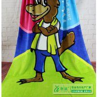 雅渲工厂定做纯棉割绒活性印花沙滩巾 外贸出口浴巾