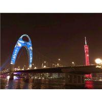 广州国际灯光节 猎德大桥投影 猎德大桥投影厂家 星迅供