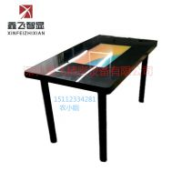 简约现代黑色高雅款 XFGZ12 四人餐桌智能触摸可娱乐智能桌鑫飞智显多媒体触碰液晶餐桌