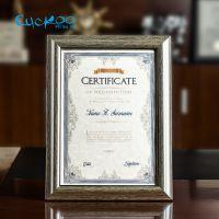 布谷鸟高档证书A4文件框 证件广告框 挂墙摆台奖状营业执照框定做