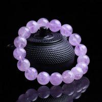 五皇一后珠宝珠串系列|薰衣草紫晶 天然水晶紫水晶手链女款 单圈紫水晶手串