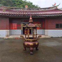温州法器铸造厂家,铜铁长方形香炉,寺院寺庙圆形香炉生产制造工艺厂
