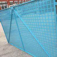 供应建筑爬架网 工地高空施工防护提升架网片 镀锌板冲孔爬架网