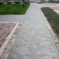 济南 混凝土压模地坪彩色艺术地坪施工总包亚斯特建材