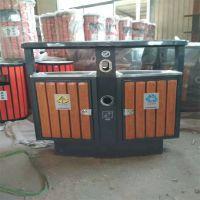 河北绿美供应钢木垃圾桶 户外金属收纳桶 工业公园小区街道环卫环保果箱