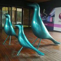 商场门前中央广场海鸥玻璃钢中式雕塑小品
